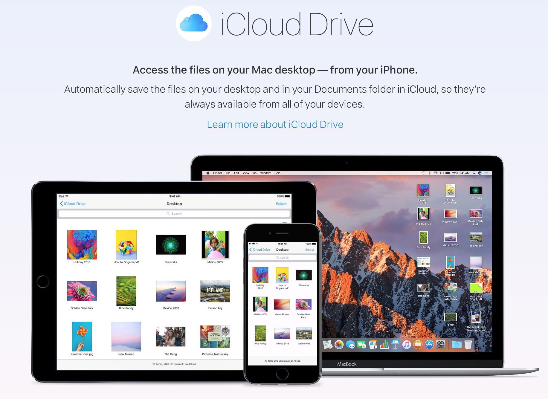 Sierra gives the ability to access all your computer files with an iPhone.