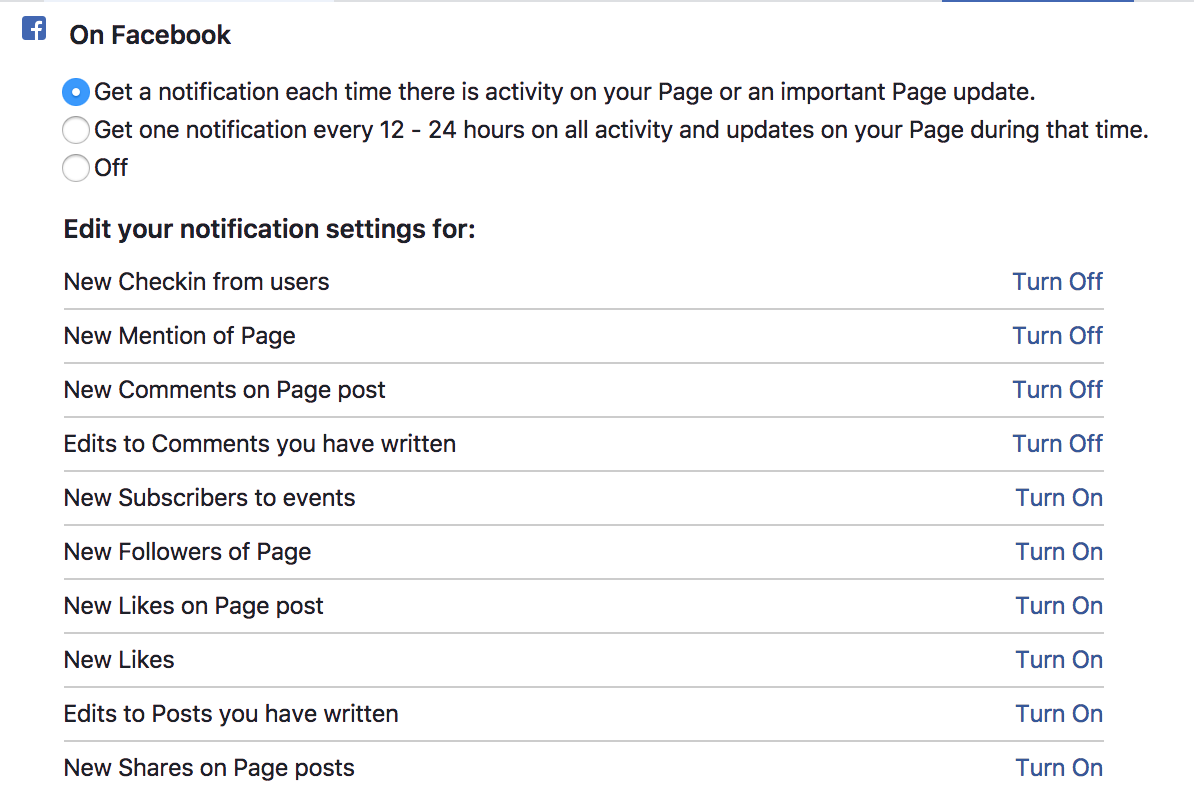 How to Customize Facebook Page Notifications