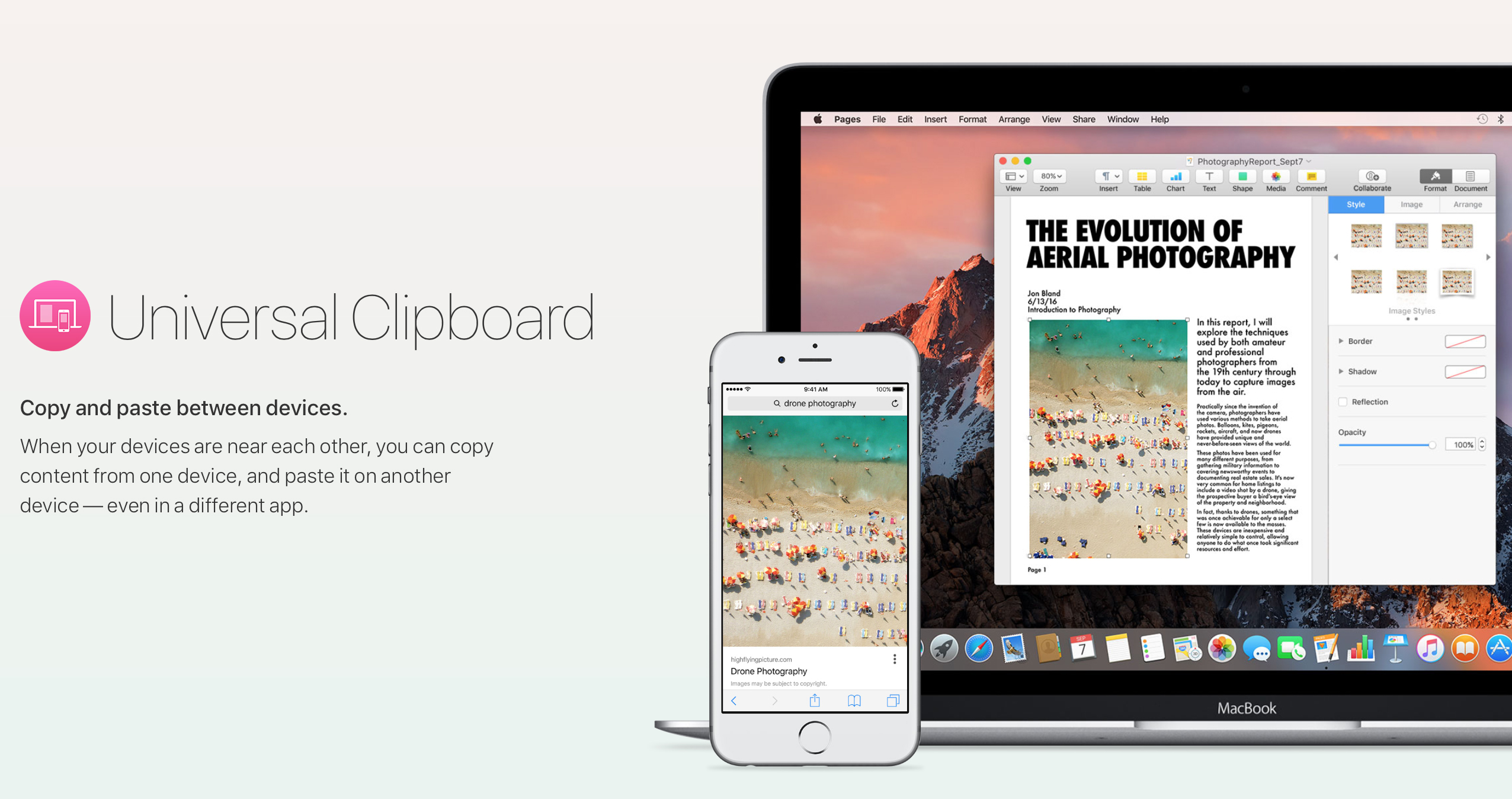 Clipboard makes copying content from Apple devices seamless.