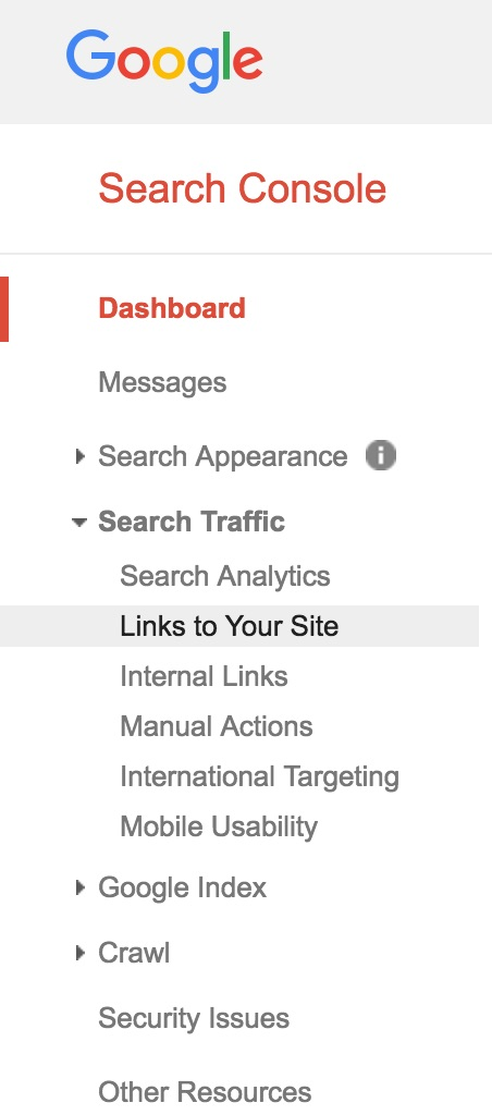 "Click ""Links to Your Site"" in Google Search Console to find anchor text for external referrer traffic."